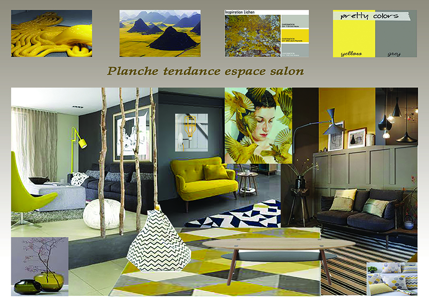 1 planche tendance agencement am nagement d coration salon for Agencement salon design
