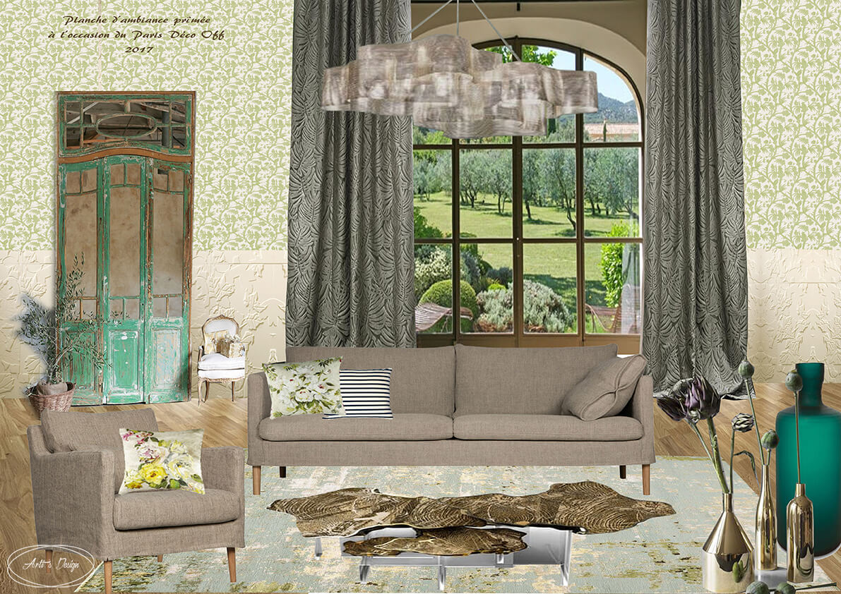 planche d 39 ambiance r alis e pour le concours paris d co off 2017 arti 39 s design. Black Bedroom Furniture Sets. Home Design Ideas
