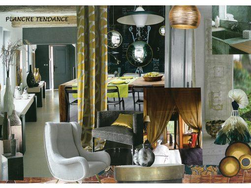 Etude détaillée pour l'agencement, l'aménagement et la décoration du rez de chaussée d'une maison de 110m²
