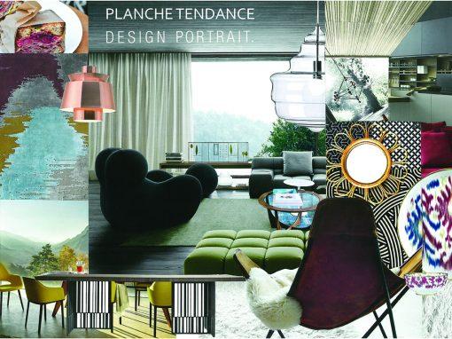 Etude détaillée pour l'aménagement et la décoration d'une pièce de vie située dans un appartement de 220m²