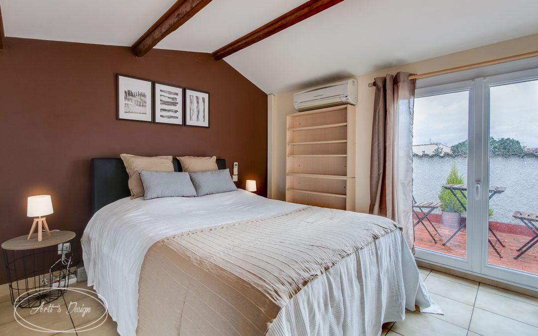 Home Staging réalisé dans une maison T3 occupée