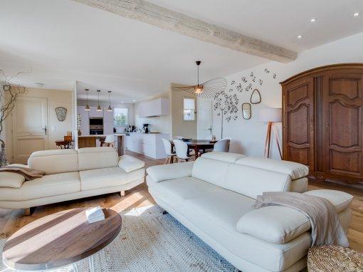 Rénovation Agencement Aménagement & Décoration espaces entrée cuisine séjour salon